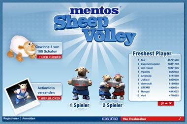 Mentos Sheep Volley