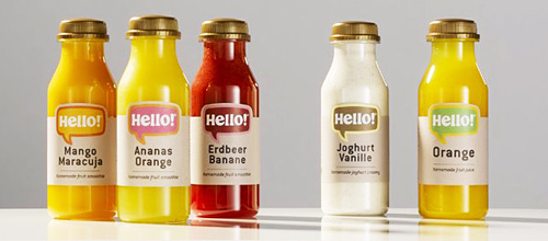 Hello! Drinks - Smoothies brand evolves interactively in Germany
