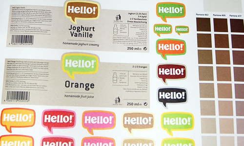 Hello! Drinks Labels