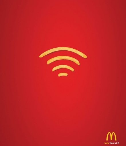 McDonald's Free Wifi Advertising