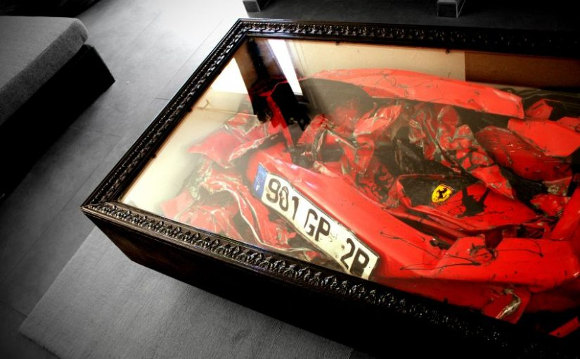 Crashed Ferrari Table
