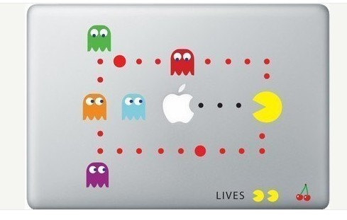 Nerdy Macbook Decal Stickers: Pacman, Android, Iron Man, …