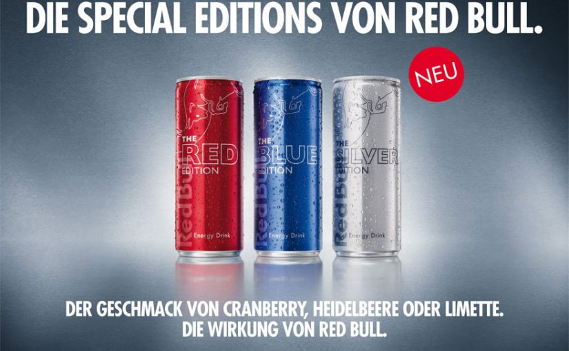 Red Bull Special Edition: Cranberry (Red), Blueberry (Blue), Lime (Silver)
