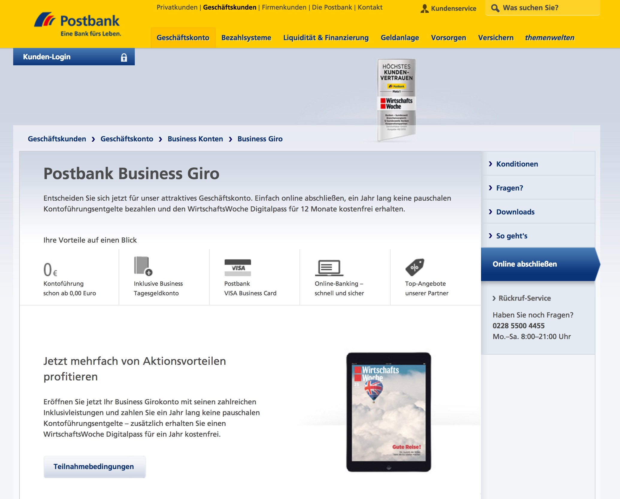 Postbank Business Giro Review