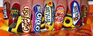 Branded Nails Image - Oreo, Cheese Nips, ...