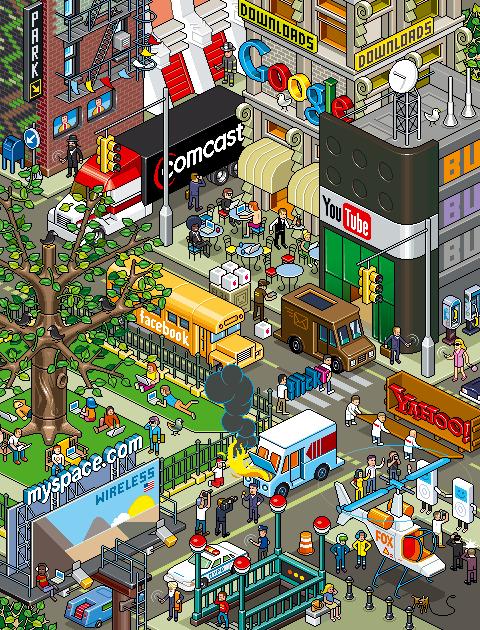 Communication City by Eboy
