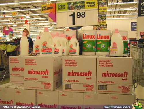 Linux and Microsoft Detergent