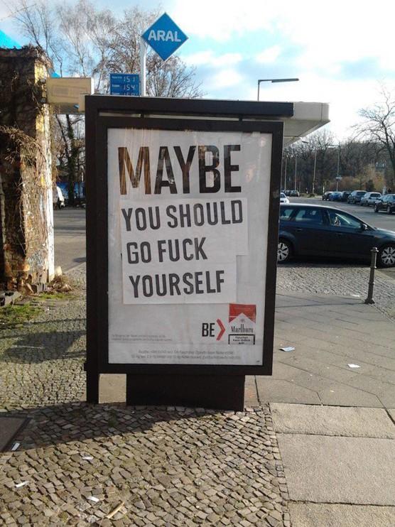 Marlboro Adbusting MAYBE Berlin