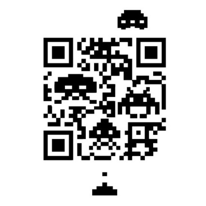 Space Invaders QR Code Shirt