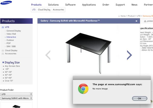 Samsung usability fail