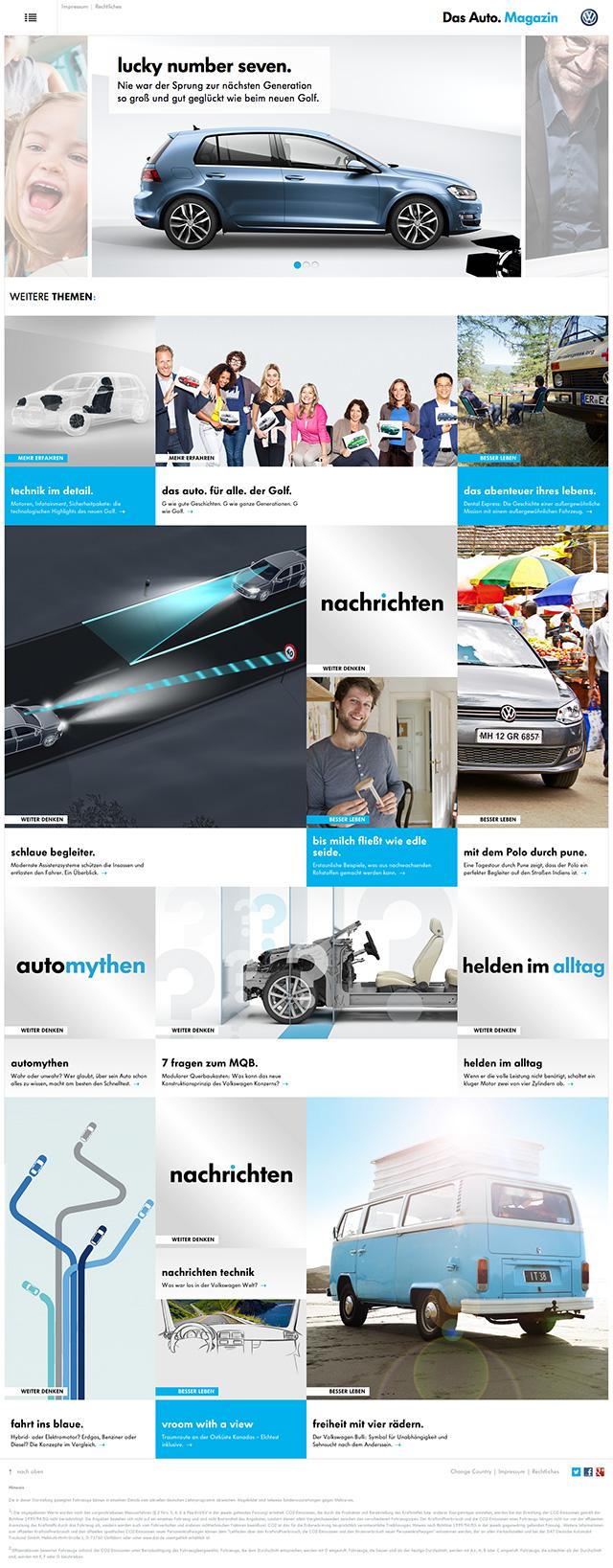VW Das Auto Magazine Frontpage