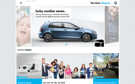 VW Das Auto Magazine Frontpage Screenshot